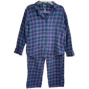 Ralph Lauren Pajama Set 100% Cotton Plaid Flannel